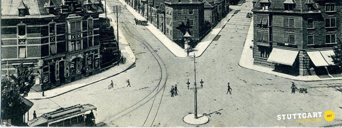 Der Ostendplatz um die 50er Jahre